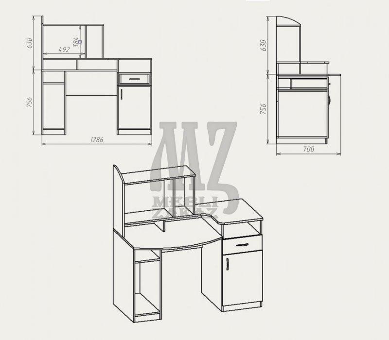 Чертежи столов из лдсп