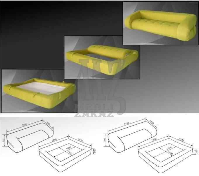 Бескаркасный диван трансформер своими руками